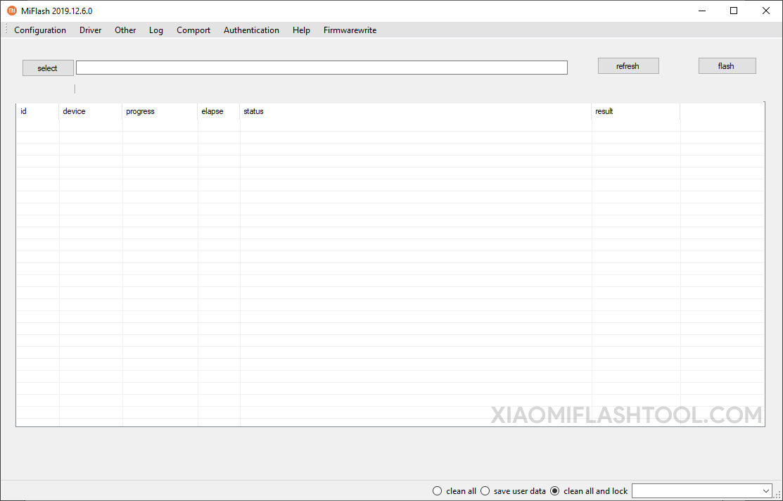 Xiaomi Flash Tool 20171212