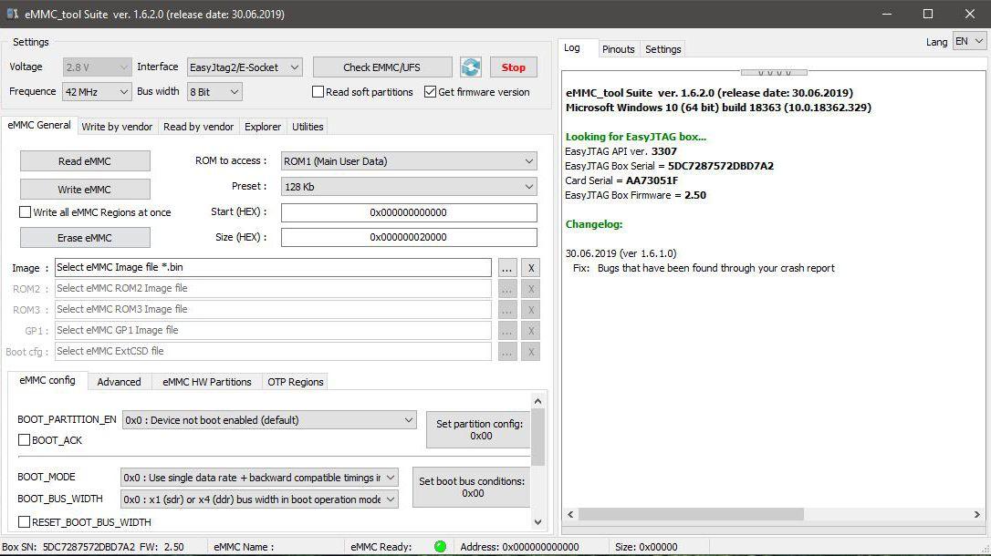 Easy Jtag EMMC Plus 1.6.4.0