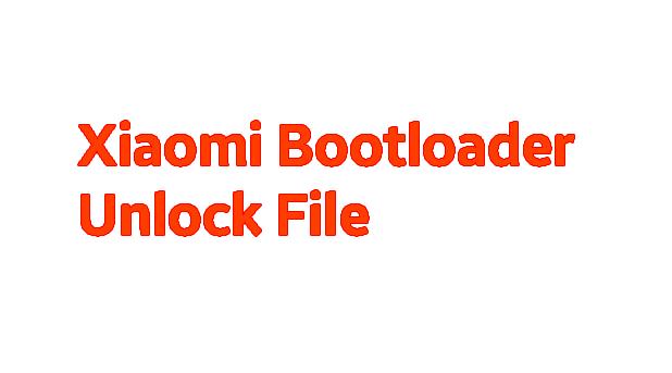 Xiaomi Redmi Y3 Bootloader Unlock File