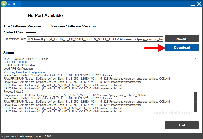 how to use qfil tool