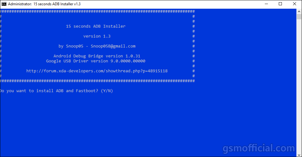 ADB and Fastboot Driver v1.3.0