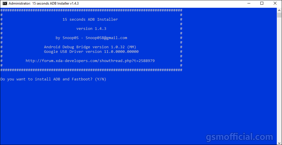 ADB and Fastboot Driver v1.4.3